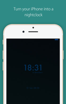 Turn your iPhone into a nightclock
